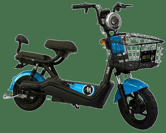 mini scooter elétrica 500w azul