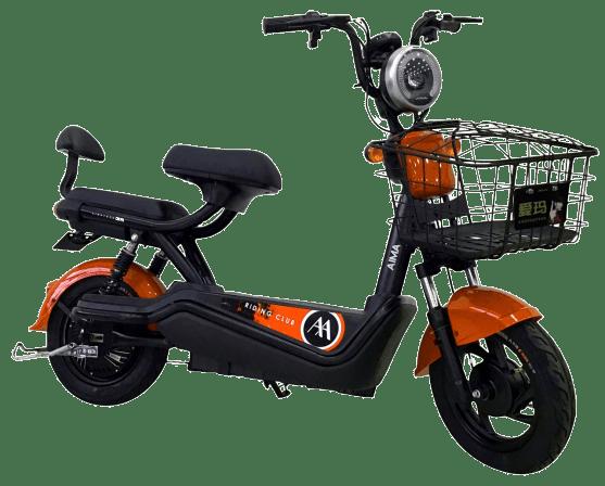 mini scooter elétrica 500w laranja