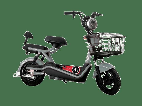 mini scooter elétrica 500w prata