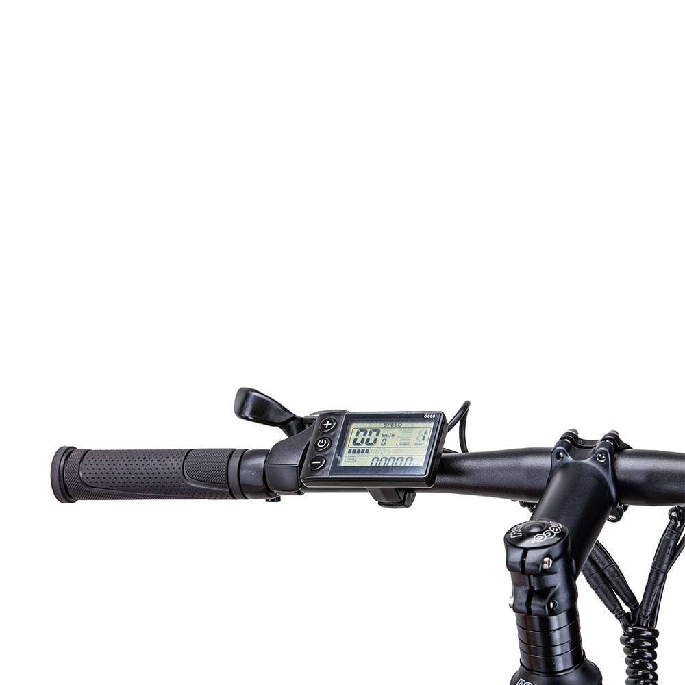 visor Mountain Bike Elétrica Santiago 350W Aro 29 10AH Freio a Disco 21V SHIMANO ecomotors - BI209